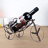 XH-Wine shelf fashionable adornment style show iron wine rack creative ornaments
