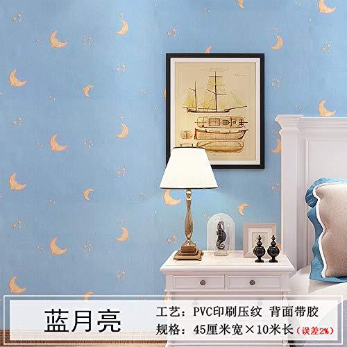 Kinder Schafe Hunde Kostüm - Tapete selbstklebende Tapete Wandaufkleber wasserdicht Schlafzimmer Blue Moon