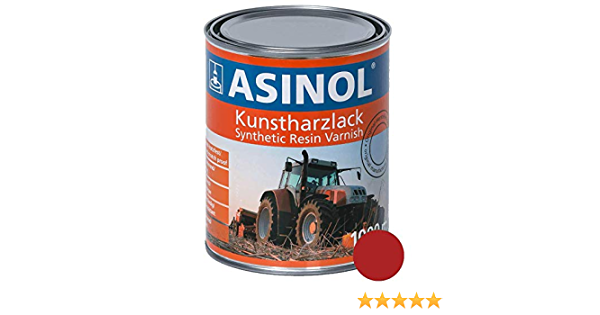 Asinol Fendt Felgenrot 1000 Ml Kunstharzlack Farbe Lack 1l Liter Dose Auto