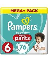 Pampers Baby Dry Pants Größe 6 Extra Large 15+ kg Mega Plus Pack