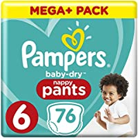 Pampers Baby Dry Pants taille 6, avec chaînes Air, 76pièces