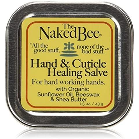 The Naked Bee Hand & Cuticle Healing Salve (1.5 oz/Sunflower, Beeswax & Shea Butter) by The Naked