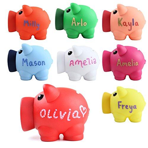 personalisierte Sparschwein - Spardose Münzen Kinder Spargeschenk beliebigen Namen Neuheit (blau)