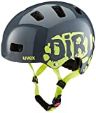 UVEX Kinder Kid 3 Radhelm, Grau (Dirtbike Gray-Lime), 55-58 cm