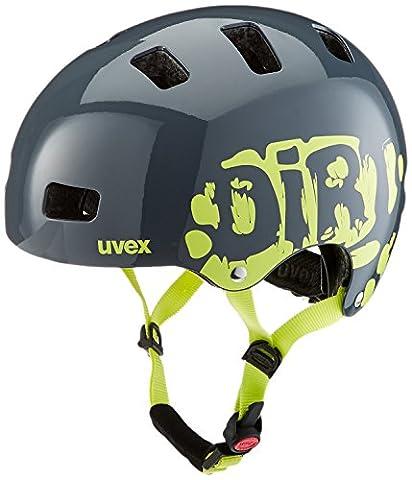 UVEX Kinder Kid 3 Radhelm, Grau (Dirtbike Gray-Lime), 51-55 cm