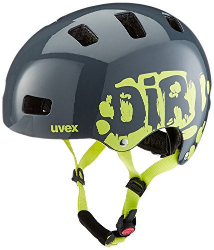 UVEX Kinder Kid 3 Radhelm, Grau (Dirtbike Gray-Lime), 51-55 cm