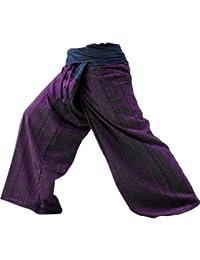Thaimart Pants - Pantalones de yoga hechos a mano con diseño de pescador tailandés, en dos colores