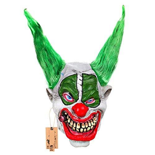 Big Boss Clown Latex Maske-Killer Klowns Maske mit Haar und Zigarre befestigt (Killer Klown Kostüm)