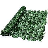 True Products Ivy 1x 3m Wonderwal Künstliche Ivy Leaf Heckenschere Platten auf Rolle Sichtschutz Zaun–Grün