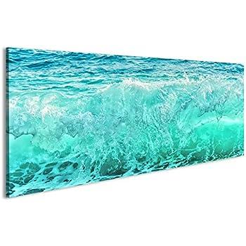 876b1ef918d55 islandburner Bild Bilder auf Leinwand Große Blaue Welle auf stürmischem  Meer Klimakonzept Natur Hintergrund Vorderansicht Wandbild, Poster,  Leinwandbild HKX