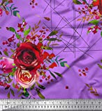 Soimoi Rosa Samt Stoff Dreieck, Beeren & Rose Blume Stoff