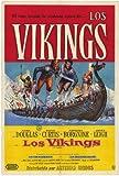 Los vikingos Póster de película 11 x 17 en Argentina 28 cm x 44 cm - Kirk Douglas Ernest Borgnine Janet Leigh Tony Curtis James Donald Alexander Knox
