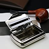 Marca nuevo portátil Metal caso de cigarrillos con mechero de acero inoxidable Clip de papel caso