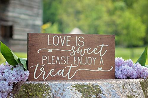 d Hochzeit Schild Holz Dessert Schild Hochzeit Candy Bar Schild Dessert Tisch Schild Holz Hochzeit Rustikal ()