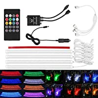 Car RGB LED Strip lights 7 Colors Car Styling