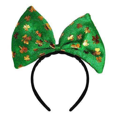 Fairy Kostüm Irish - Grün St Patricks Day Kostüm Stirnbänder - Groß Kleeblatt Bow