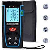 SToK (0.05 to 40 / 50 meters)Laser Rangefinder/ Distance Measuring Meter / Laser Distance Meter - Portable Measuring Device,Area/Volume/Distance/Pythagoras Calculation,Measurement Memory Recall,Tape 0.05 to 40 m / 50 m (0.16 to 164ft