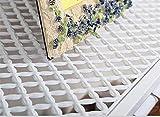 AJ] Europäische Kreative schmiedeeiserne Garderobe antiken Garten Kleiderbügel Einfache Wandbehang (Farbe : Weiß, Größe : L80*W28CM)