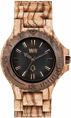 WEWOOD Reloj unisex - Date Zebrano Rough