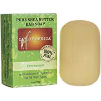Pure Shea Butter Bar Soap Peppermint Out Of Africa 4 oz Bar Soap by Out of Africa