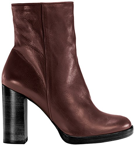 Castañer - CHANTAL / calf leather, Stivali da Donna Rosso(Burgundy)
