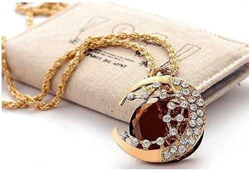 Österreichisches Kristall Modeschmuck (Gold Bernstein) (Österreichischen Kristall Modeschmuck)