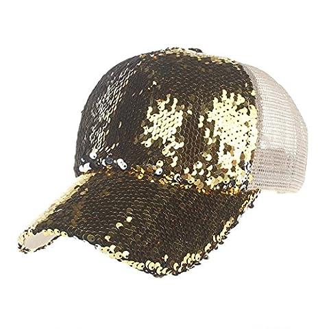 Vovotrade® ❃❃Paillettes Unisexe Casquette de Baseball Chapeau en Molleton Capuchon de Baseball Femme Homme (Or)