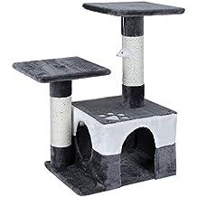 Songmics Árbol para gatos Juguete Rascador Columnas cubiertas de sisal con ratón decorativo PCT27G