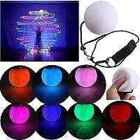 EMVANV - Pelotas LED para Bailar de Ombligo (Brillantes, para Bailarinas de Nivel Profesional, Blanco