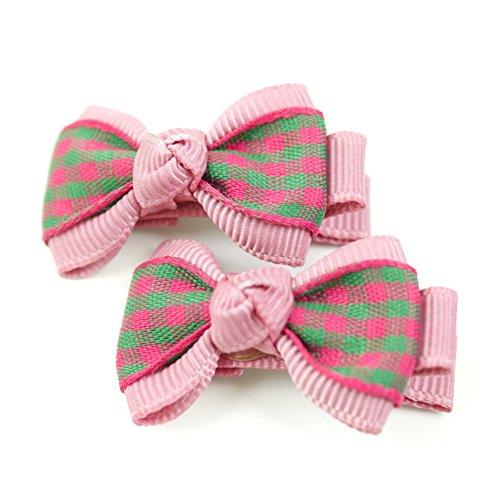 rougecaramel - Accessoires cheveux - Pince cheveux enfant 2pcs motif carreau - rose