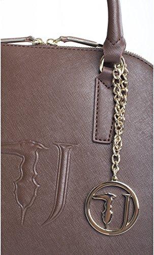 Trussardi Jeans | Borsa a mano Trussardi Jeans donna con pendente colore moro - 75B004K426, Moro Marrone