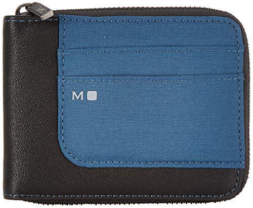 Moleskine Portafoglio Smart ID Portafoglio Flessibile e Sportivo con Zip, Blu Boreale, 12 5 x 1 x 9 cm
