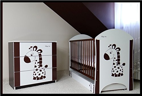 5 PCS BABY NURSERY FURNITURE SET - COT + MATTRESS + WARDROBE + CHEST OF DRAWERS + TOY BOX (model 21)  Included: cot + mattress + wardrobe + chest of drawers + toy box Material: wood GREAT QUALITY 2