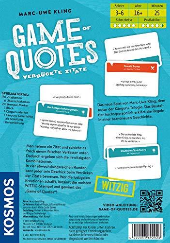 KOSMOS 692926 – Game of Quotes - 2