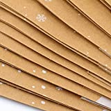Elcoho 12 Pieces Christmas Kraft Bags Holiday Party Bag Shopping Bags Paper Bags with Handle for Christmas Decorations Bild 5