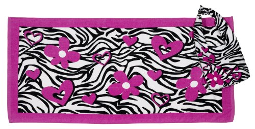 DREI Cheers 4Mädchen Zebra Tasche und Handtuch-Set