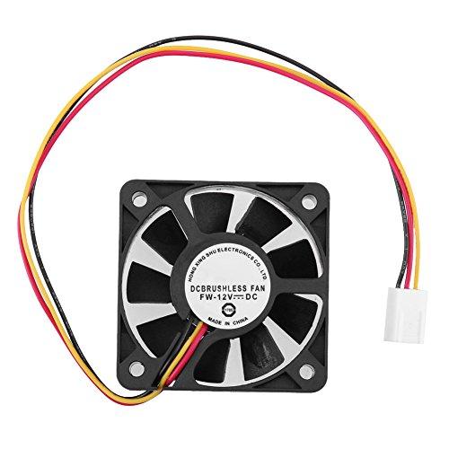 Hillrong 3 Pin CPU Cooling Fan Disipador térmico Enfriamiento 50 mm 10 mm 12 V para PC Ordenador (1pc) (Cpu Pc Para)