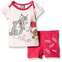 PUMA Baby Set Fun Tom und Jerry JR, Pink Dogwood/Rose Red, 98, 836725 25