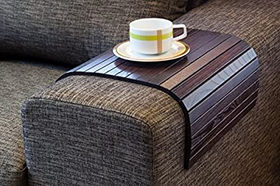 Sofa Tray Table BROWN, Wooden TV tray, Wooden Coffee Table, Lap Desk for small spaces, Wood Gifts, Sofa Arm Tray, Armrest Tray, Couch Tray, Sofa Table, Wood Tray