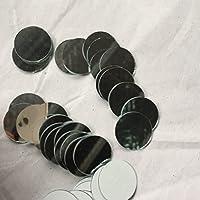 Juego de 100pcs pequeño cristal redondo manualidades, Real espejo de cristal Azulejos de mosaico 2x2cm