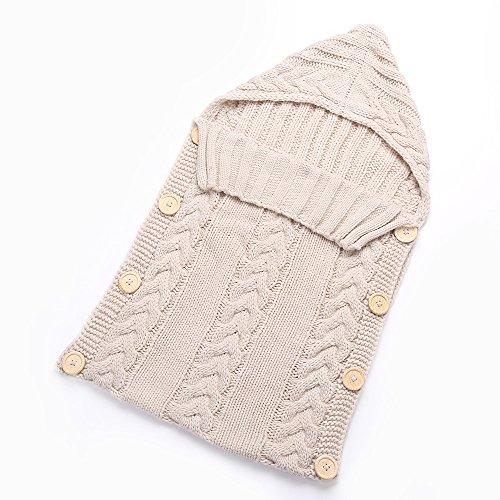 Preisvergleich Produktbild Anself Baby Schlafsack Babydecke aus Strickwolle für Neugeborene