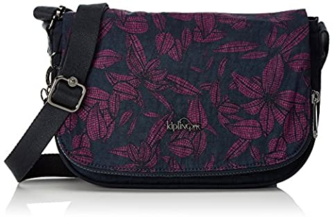 Kipling Earthbeat S, Women's Cross-Body Bag, Mehrfarbig (Orchid Bloom Bl), 26x17x0.1 cm (B x H T)