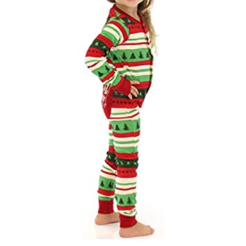 Christmas Family Matching Romper Pajamas Sleepwear Sets Mom Dad ...