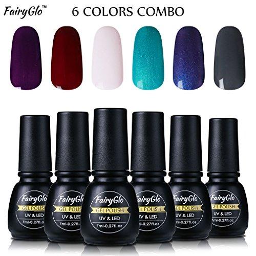 fairyglo-6-pcs-color-uv-led-gel-nail-polish-soak-off-shiny-manicure-varnish-nail-art-starter-kit-lon