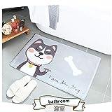 MORBUY Fußmatte Innenbereich und Aussenbereich 50x80, Anime Rutschfest und Waschbar Praktische Fußabtreter Fussabstreifer Flur Teppich Wohnzimmer (50 * 80CM, Herr Hund)