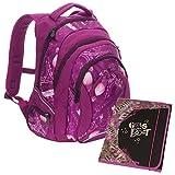Paris - Schulrucksack Rucksack Daypack - Volumen: 28 Liter - Gratis dazu! : Hochwertige HEFTMAPPE (Wert 19,95€)