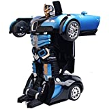 PLAY DESIGN Rechargeable Robot Toy Converts Into A Car( Color May Vary)