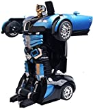 #2: PLAY DESIGN Transform Robot Races Car 2 in 1 Bright Lights and Music Battery Operated Toy ( MULTI COLOR)