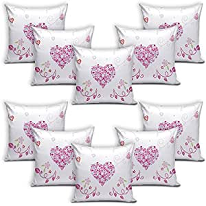 Sleep Nature's Velvet Cushion Covers Set of 10 - (Size-12x12 inches)