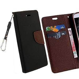 Majesty Strap Flip Cover for HTC Desire 628 Dual Sim - Black Brown